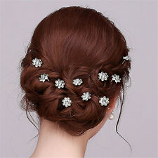Women Crystal Rhinestone Hairpin Bridal Wedding Party Hair Clips Comb 20Pcs