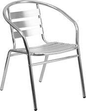 Slat Back Indoor or Outdoor Aluminum Restaurant Chair - Outdoor Restaurant Chair