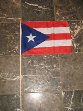 "12x18 12""x18"" Puerto Rico Rican Stick Flag wood staff"
