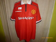 "Manchester united original umbro hogar camiseta 1998-2000 ""sharp"" talla XL Top"