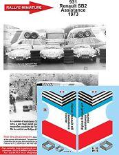 DÉCALS 1/24 réf 931 Renault SB2 Assistance 1973