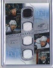 15-16 UD ICE FROZEN FOURSOMES CARTER-DOUGHTY-KOPITAR-QUICK QUAD JERSEY KINGS