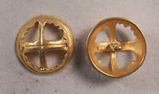 """Set of 6 JHB Intl Gold Round Metal Buttons Cross 1-1/8"""" or 28 mm lyk0058"""