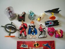 DISNEY THE INCREDIBLES 2004 KINDER SURPRISE FIGURES SET - FIGURINES COLLECTIBLES