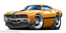 Man Cave Garage Decor 1970 Mercury Cyclone 429 CJ Wall Graphic Decal Vinyl Cling
