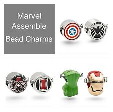 Marvel Bead Charm -Black Widow, Captain America, Hulk, Hydra, Iron Man or SHIELD