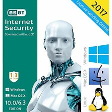 ESET Internet Security 10.0 /2017 /3 Years 1 PC License Download English Edition