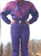 Vtg 1980s 90s Descente Elastic Waist One Piece Ski Snow Suit Ladies 8 Purple