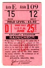 RARE 1966 (ATL BRAVES 1ST YEAR) TICKET STUB-6/25/66 VS. DODGERS-DOUBLEHEADER