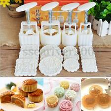 16pcs DIY 50-100g Mooncake Mold Baking Tool Barrel Flower Stamp Mould Kit Set