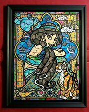 Walt Disney Princess Aladdin Stain Glass Art Print Framed Memorabilia Gift