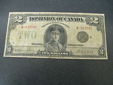 1923 Dominion of Canada $2 Two Dollar Bank Note