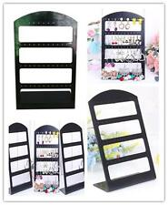48 Hole Earring Jewelry Show Black Plastic Display Rack Stand Organizer HolderBY