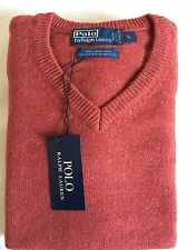 Mens Ralph Lauren Lambs Wool Jumper Sweater V Neck Size- Large  RRP £75