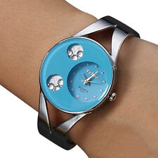 Women's Lady Bracelet Stainless Steel Silver Crystal Dial Quartz Watch Watches