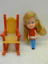 1980 THE LITTLES Mattel BECKY DOLL + ROCKING CHAIR #3564 No Box Old Store Stock