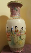 Excellent Chinese Republic Period Export Porcelain Famille Rose Vases 18""