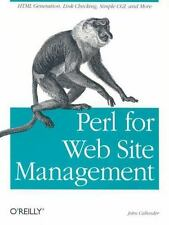 Perl for Web Site Management by John Callender (2001, Paperback)