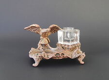 Antique Gilt Bronze Eagle Inkwell