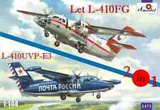 1:144 Amodel #1471 Let L-410FG & L-410UVP-E3 aircraft (2 kits in box) Neuheit !