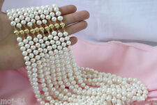 "Wholesale 10 Strands 7-8MM White Akoya Cultured Pearl Necklace 18"" AAA+"