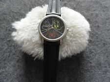 New Warner Bros. Bugs Bunny Quartz Watch with a Black Leather Band