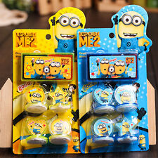 1 Set Cute Despicable Me Minions Figures Seal Stamp & Ink Pad Kids Children Toy