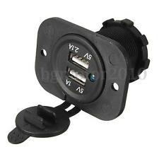 1A+2.1A 12V 2 USB Car Motorcycle Socket Splitter Power Adapter Charger For Phone