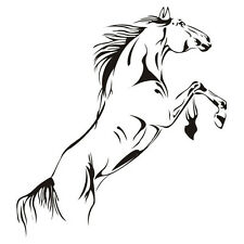 Hot Jumping Horse Mounted Troops Wall Sticker Removable Decal Home Art Decor UK