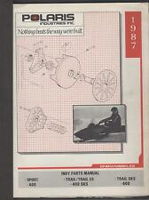 1987 POLARIS SNOWMOBILE INDY SPORT & TRAIL  P/N 9911270  PARTS MANUAL (771)
