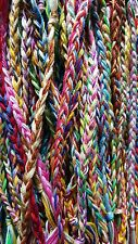 LOT OF 10! HANDMADE BRAID STYLE FRIENDSHIP BRACELETS MIX COLORS WHOLESALE