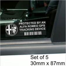 5 X Alfa romeo-gps dispositivo de rastreo de seguridad stickers-spider, Alarma de automóvil Tracker