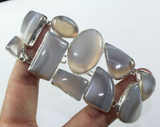 925 Sterling Silver Overlay Blue Lace Agate Bracelet  Handmade Jewellery
