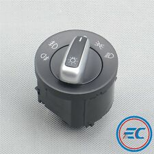 Chrome Headlight Fog Light Switch Control Fit VW Jetta Golf Rabbit Passat Tiguan
