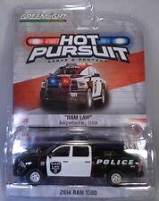 GREENLIGHT 1:64 SCALE DIECAST BLACK AND WHITE 2014 DODGE RAM 1500 POLICE TRUCK