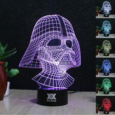 Darth Vader 3D LED illusion Night Light 7 Colorful Touch Switch Table Desk Lamp