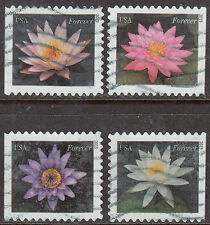 Scott #4964-67 Used Set of 4, Water Lilies