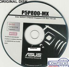 ASUS GENUINE VINTAGE ORIGINAL DISK FOR P5P800-MX Motherboard Drivers Disk M568