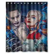 Personalized Custom Harley Quinn And Joker Waterproof Shower Curtain 60x72 inch