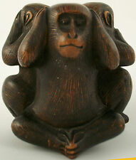 A fine antique Japanese okimono of the Three Wise Monkeys Late 19th century