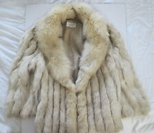 Vintage Stunning Blue Fox Fur Coat Finland