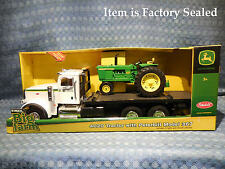 NEW Peterbilt 367 & John Deere 4020 Tractor Big Farm Toy Set