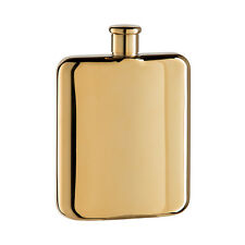 Oggi Gold Titanium Plated Stainless Steel Hip Flask (6 OZ)