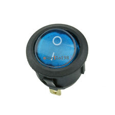 Imported 5Pcs Mini 3 Pin Round Blue SPDT ON-OFF Rocker Switch Snap-in