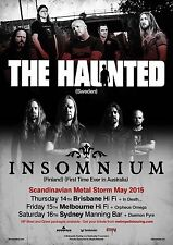 THE HAUNTED / INSOMNIUM AUSTRALIA 2015 CONCERT TOUR POSTER - Heavy Metal Music