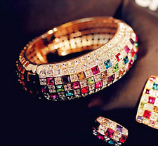 Fashion Men Women Multicolor Sapphire Gold Filled Engagement Ring Jewelry
