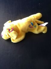 Vintage Lisa Frank Bean Bag Plush Beanie Candy Yellow Lab Dog Rainbow Heart