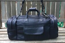 Authentic 100% leather handmade Indigo Blue travel/ gym men's duffle bag
