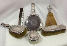 Antique Foster & Bailey Sterling Silver 6 Piece Vanity Grooming Dresser Set