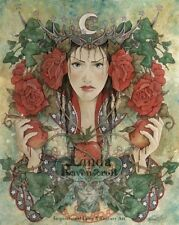 "NEW LINDA RAVENSCROFT ORIGINAL ""The Daughter of Avalon""  GOTHIC FAIRY PAINTING"